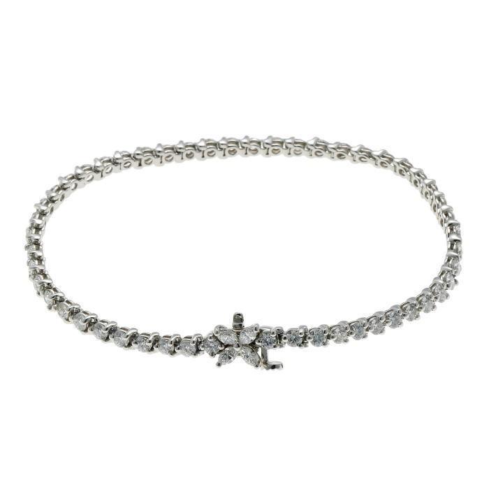Tiffany&Co. ティファニー ビクトリア ダイヤ ブレスレット プラチナ PT950_画像2