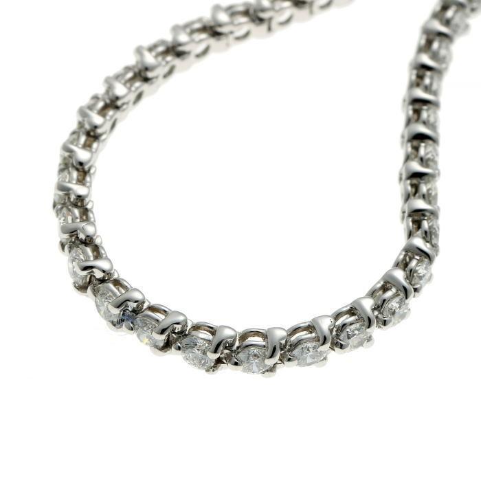 Tiffany&Co. ティファニー ビクトリア ダイヤ ブレスレット プラチナ PT950_画像4