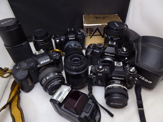 577☆ニコン ジャンク扱 80-200MM 4.5-5.6 D/SB-22s/F-401 35-70/FG 50mm 1.4/F-301 SIGMA 28-80/F-301/35-105/70-210 カメラ レンズ
