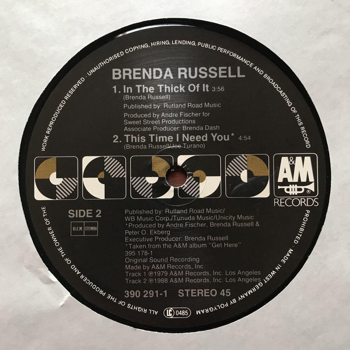●【r&b】Brenda Russell / Piano In The Dark[12inch]オリジナル盤《2-1-13 9595》