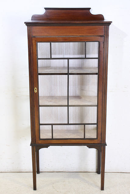 ショーケース アンティーク家具 ce-17 1910年代 イギリス製 アンティーク マホガニー エドワーディアン スモール ガラスキャビネット_画像2