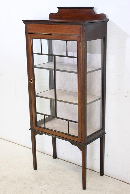ショーケース アンティーク家具 ce-17 1910年代 イギリス製 アンティーク マホガニー エドワーディアン スモール ガラスキャビネット_画像3