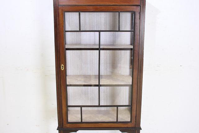 ショーケース アンティーク家具 ce-17 1910年代 イギリス製 アンティーク マホガニー エドワーディアン スモール ガラスキャビネット_画像5
