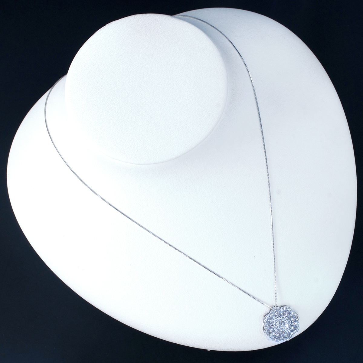 *PN6139WG 新品!令和新作Design! 天然上質ダイヤモンド1.00ct 最高級18金WG無垢ネックレス_画像2