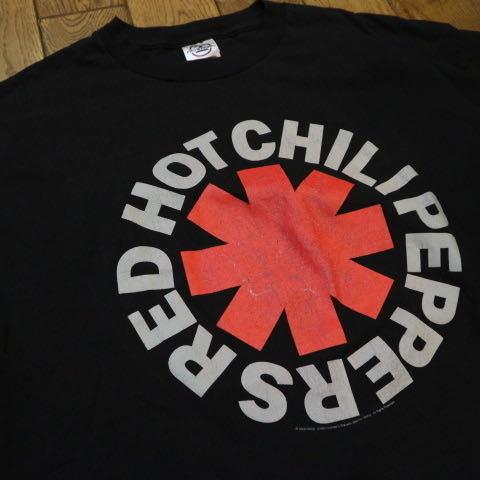 00s RED HOT CHILI PEPPERS ロゴ Tシャツ L ブラック 半袖 レッドホットチリペッパーズ レッチリ RHCP オフィシャル バンド ロック_画像2