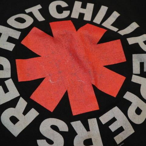 00s RED HOT CHILI PEPPERS ロゴ Tシャツ L ブラック 半袖 レッドホットチリペッパーズ レッチリ RHCP オフィシャル バンド ロック_画像4