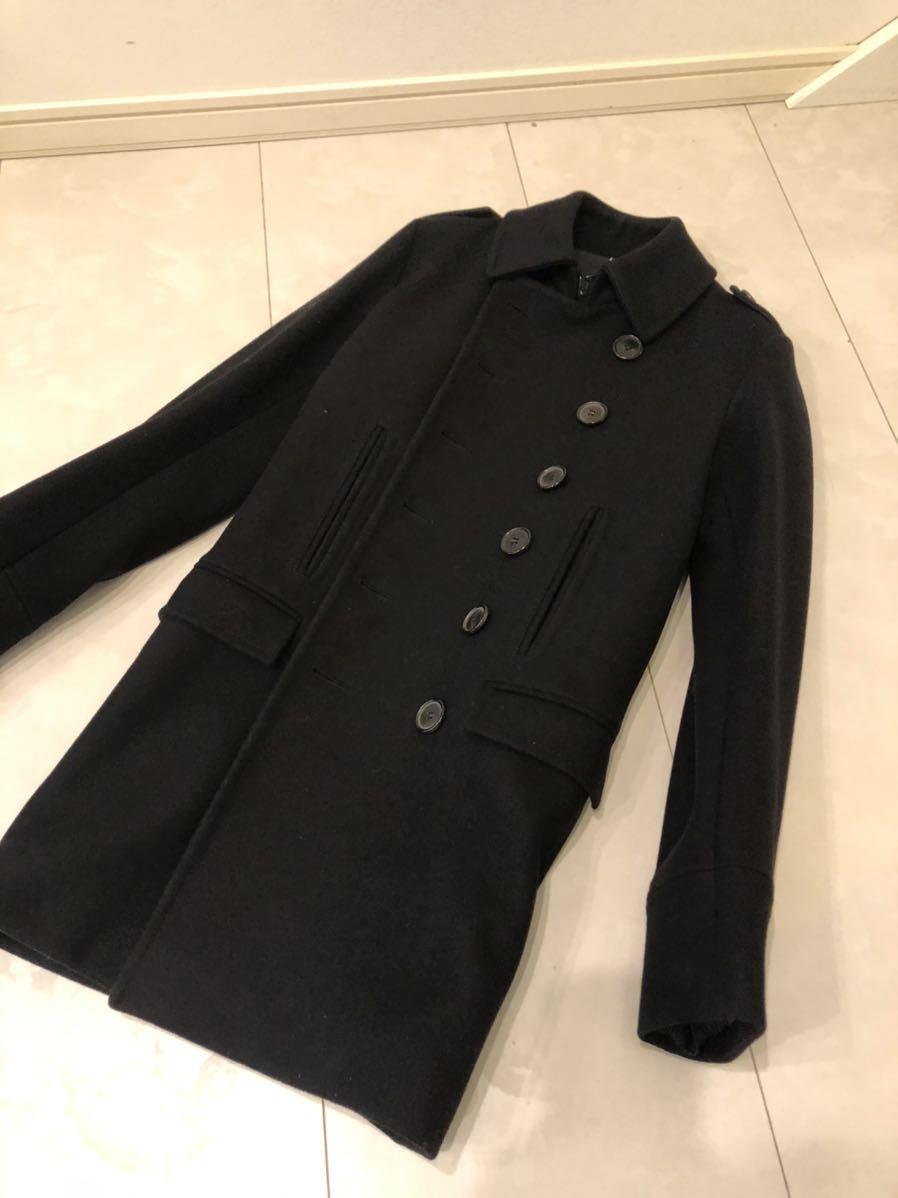 超美品 Dior homme メルトンコート Pコート トレンチコート エディ期 ダッフルコート ディオール DIOR スーツ ジャケット