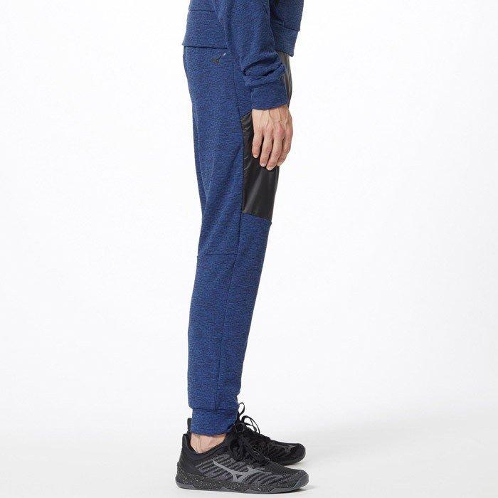 青【新品XL定価8690】 W83-89cm MIZUNO ミズノ パンツ ジョギング ランニング フリース