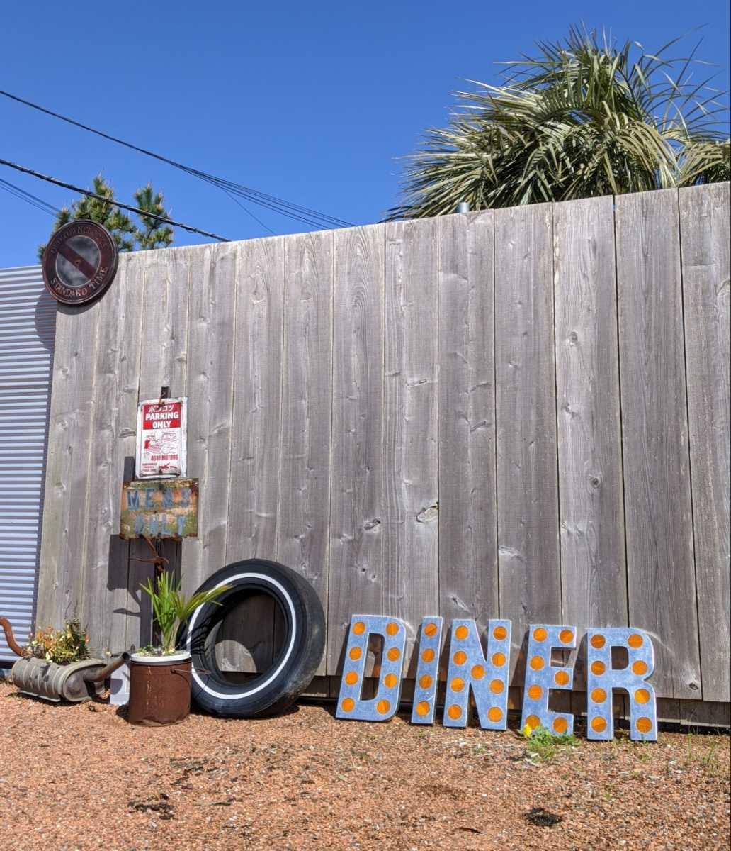 DINER SING(反射鏡付き)ダイナー 切り文字 立体看板/アメリカンヴィンテージStyle/#店舗什器#アメリカンダイナー#レストラン#壁面看板_画像2