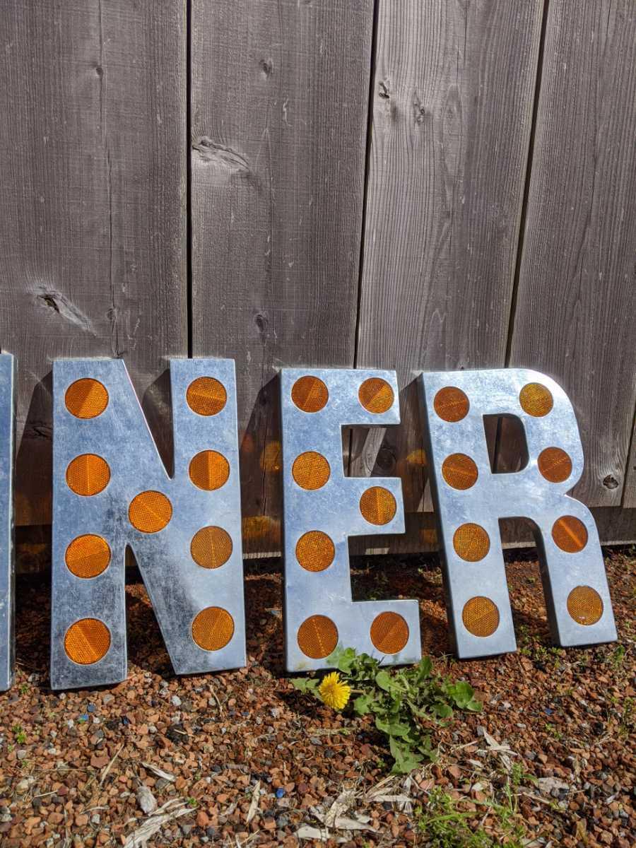 DINER SING(反射鏡付き)ダイナー 切り文字 立体看板/アメリカンヴィンテージStyle/#店舗什器#アメリカンダイナー#レストラン#壁面看板_画像5