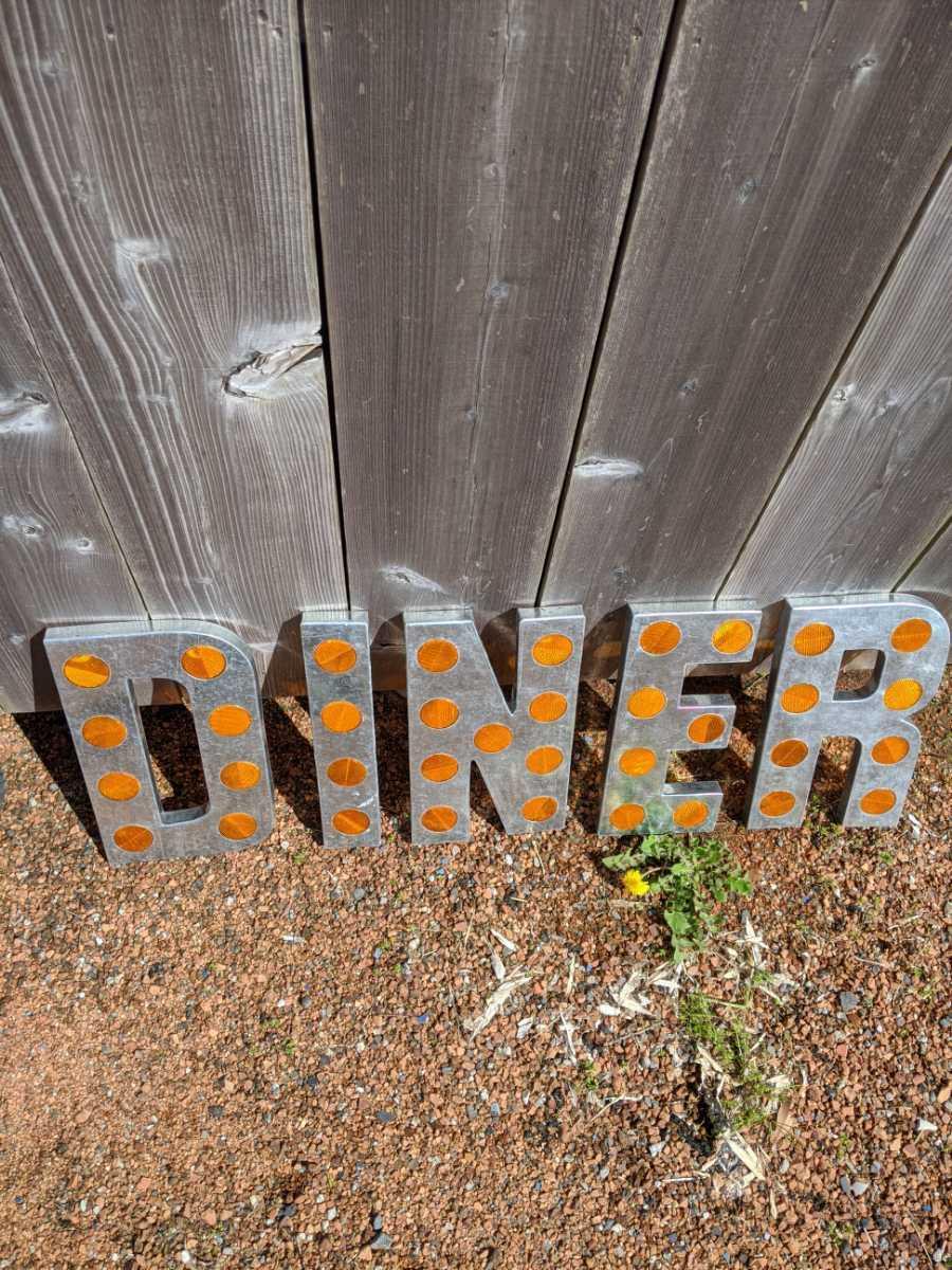 DINER SING(反射鏡付き)ダイナー 切り文字 立体看板/アメリカンヴィンテージStyle/#店舗什器#アメリカンダイナー#レストラン#壁面看板_画像6