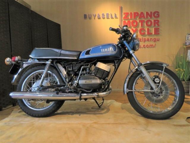 「□ 超希少 YAMAHA ヤマハ RD250 2st 青 250cc 19817km ビンテージ 実動! 1975 2スト バイク 札幌発」の画像1