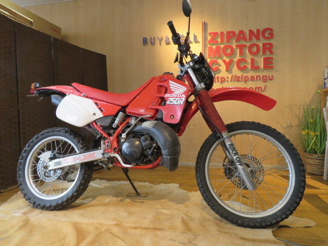 □HONDA ホンダ CRM250R 赤 21611km 250cc モトクロス 2スト 実動 初期型 バイク 札幌発_画像1