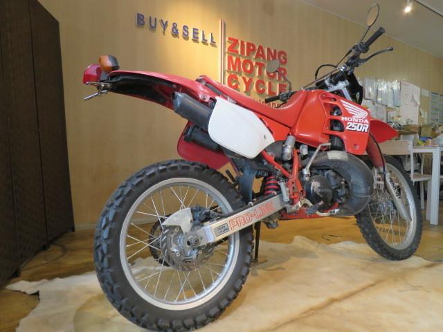 □HONDA ホンダ CRM250R 赤 21611km 250cc モトクロス 2スト 実動 初期型 バイク 札幌発_画像9