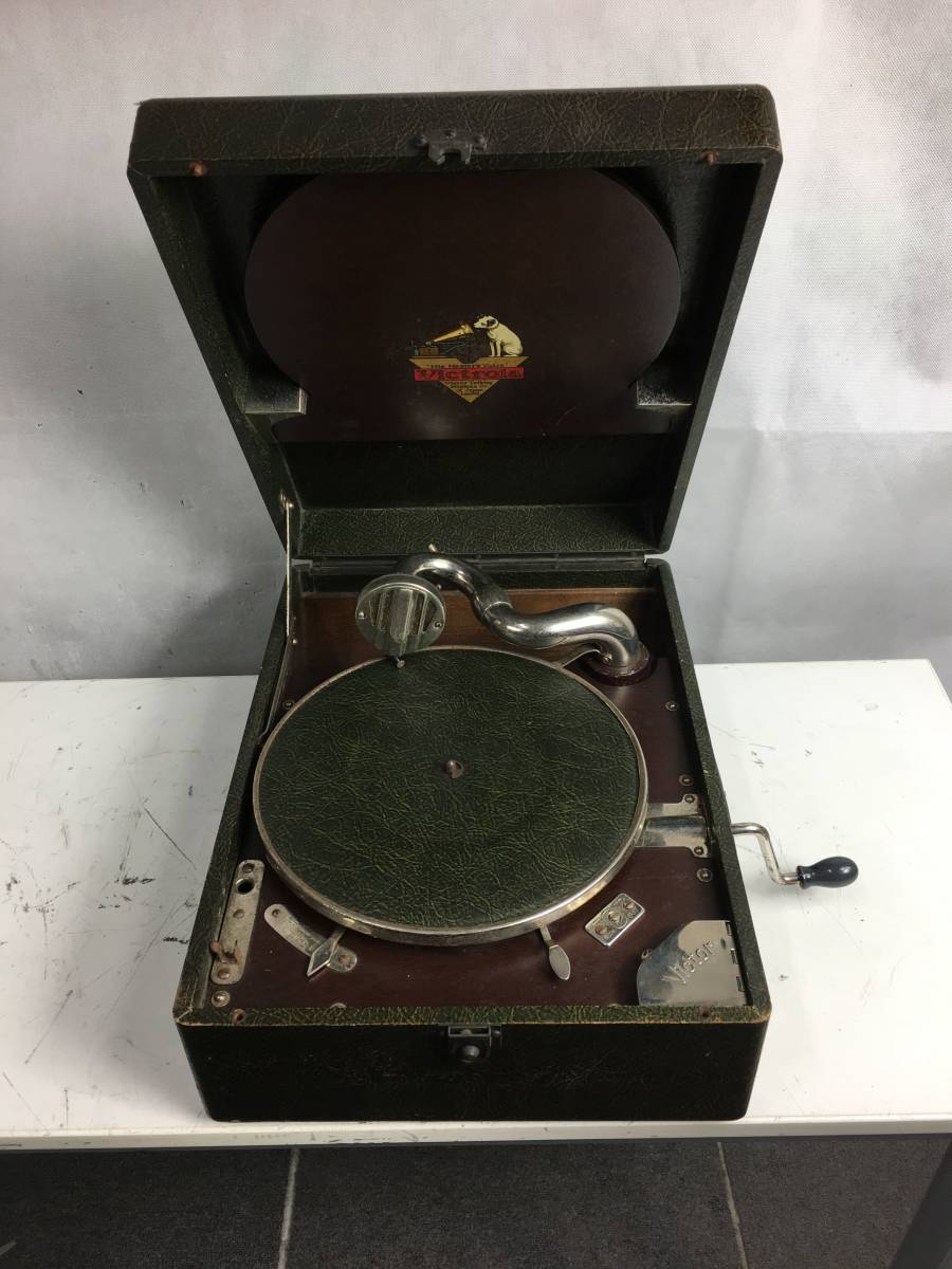 ◆◇VICTOR VP-102S ポータブル蓄音器 アンティーク レトロ 現状品 ◇◆