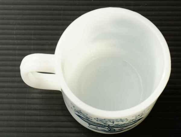 ◆ アメリカ雑貨 70's UNKNOWN ミルクガラス マグ 花柄/ビンテージ アンティーク レトロ インテリア コーヒー 食器 コップ ヒッピー 1_画像7