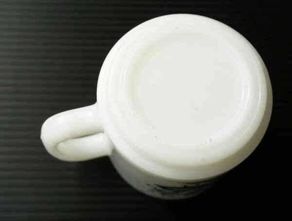 ◆ アメリカ雑貨 70's UNKNOWN ミルクガラス マグ 花柄/ビンテージ アンティーク レトロ インテリア コーヒー 食器 コップ ヒッピー 1_画像8