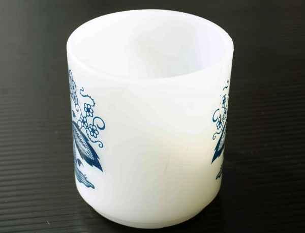 ◆ アメリカ雑貨 70's UNKNOWN ミルクガラス マグ 花柄/ビンテージ アンティーク レトロ インテリア コーヒー 食器 コップ ヒッピー 1_画像2