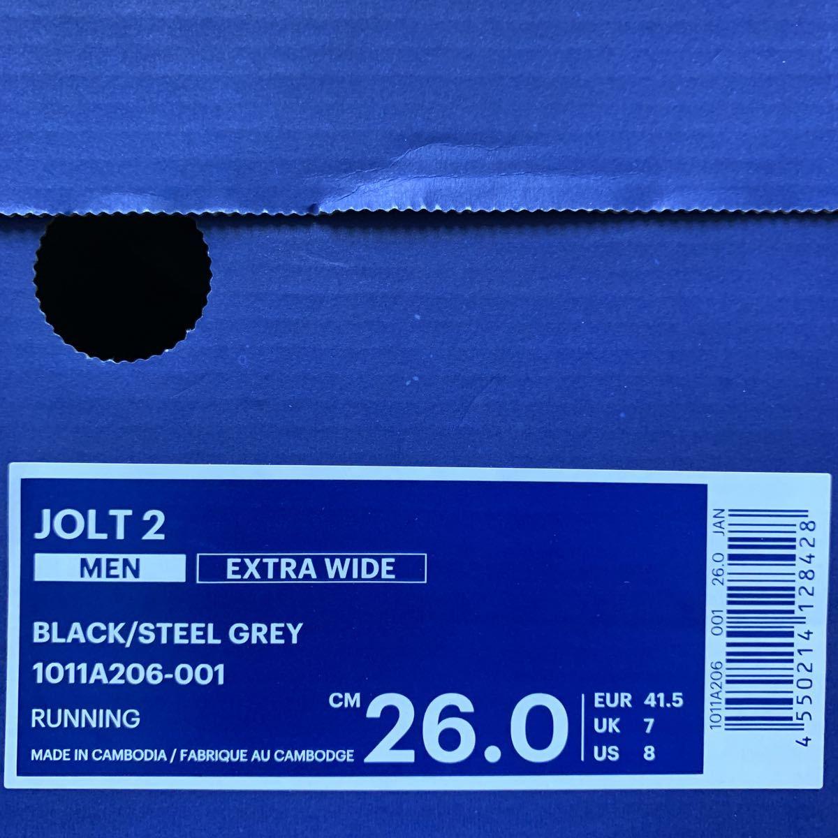 asics アシックス 1011A206-001 JOLT 2 26.0cm 新品