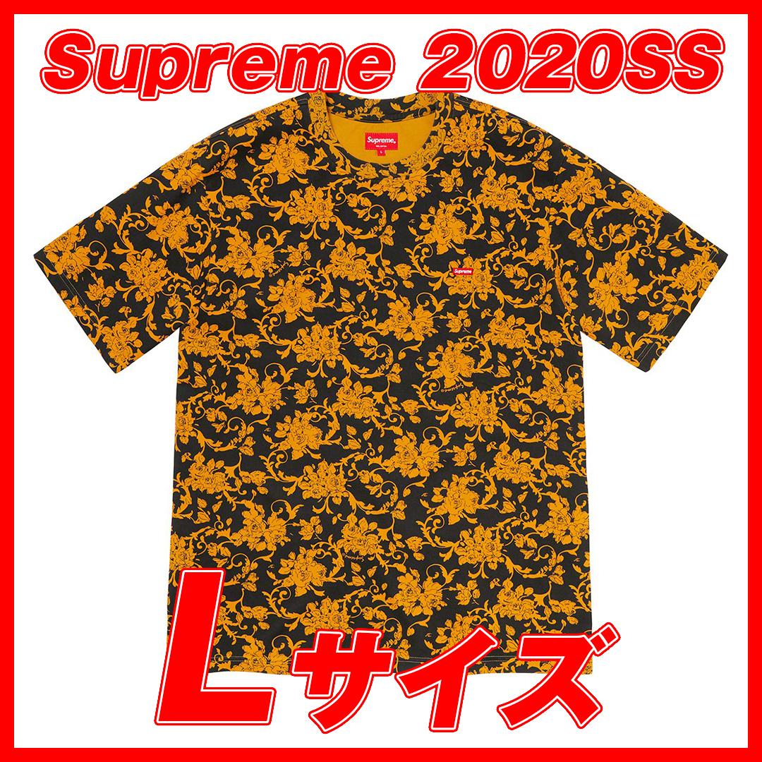 1173 Supreme /Small Box Logo Black Floral Lsize 2020SS/シュプリーム スモール ボックスロゴ ブラック フローラル Lサイズ_画像1
