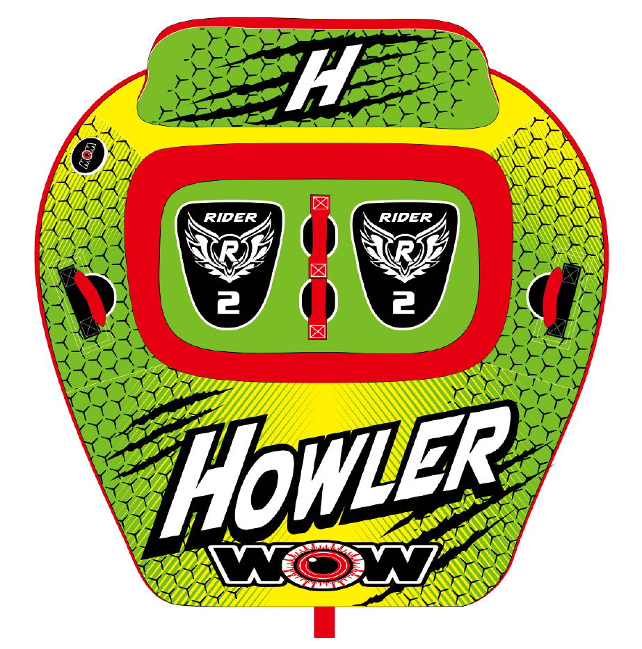 ワオ WOW ウォータートーイ トーイングチューブ 15%オフ 送料無料 ハウラー 2人乗り W20-1030 水上バイク ジェット_画像4