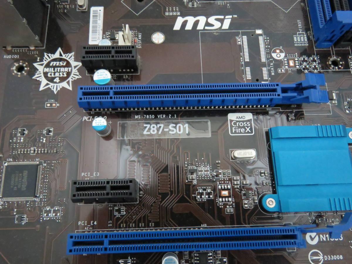 MSI Z87-S01 マザーボード _画像3