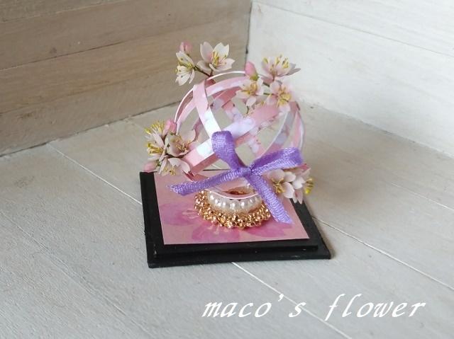 maco's flower♪桜*手毬風アレンジ♪