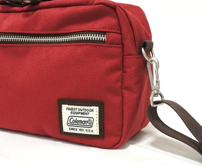 コールマン Coleman 斜め掛け バッグ ショルダー レッド 赤 かばん メンズ レディース 小さい プレゼント 新品 バッグ 鞄 母の日 父の日_画像5