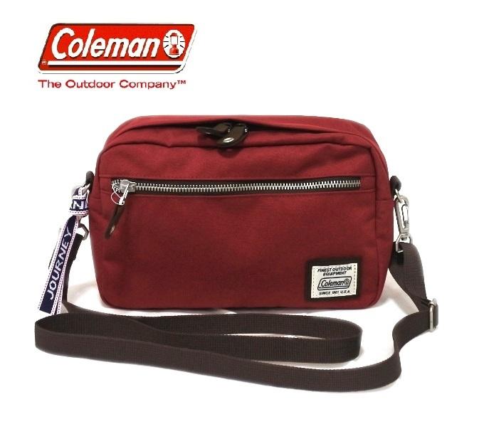 コールマン Coleman 斜め掛け バッグ ショルダー レッド 赤 かばん メンズ レディース 小さい プレゼント 新品 バッグ 鞄 母の日 父の日_画像1