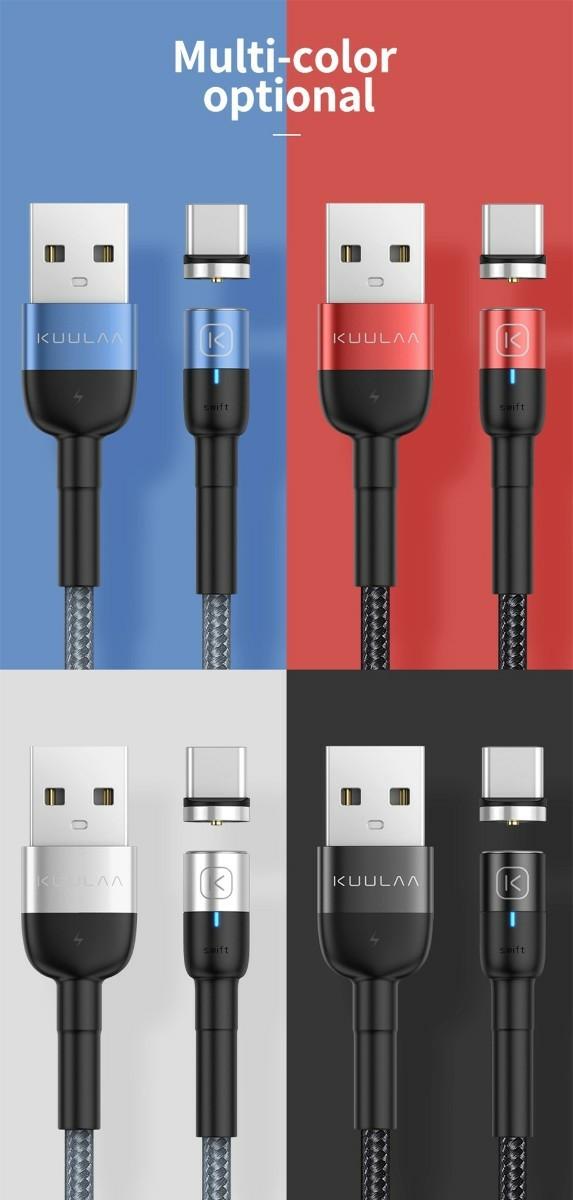 マグネット 充電ケーブル lightning 青 1m iPhone 急速充電