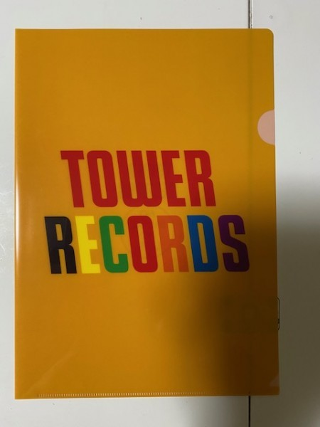 タワーレコード A4 クリアファイル _画像1