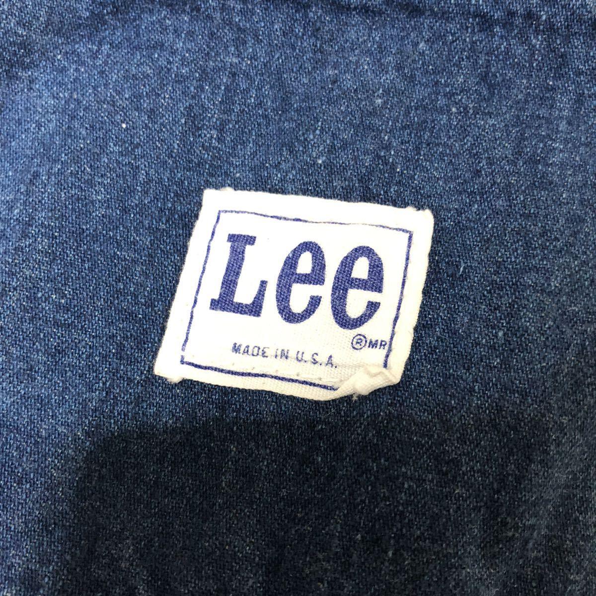 Lee リー 70's VINTAGE!! USA製 42TALON デニムペインターパンツ _画像7