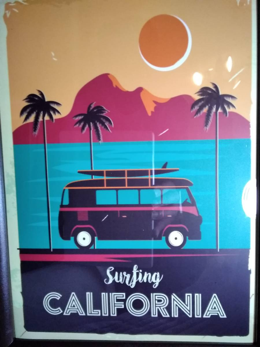 サーフィン★カリフォルニア★Surfing CALIFORNIA★A4アートポスター