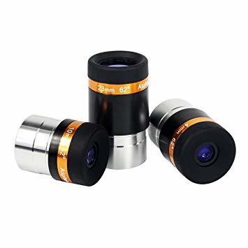 ブラック 4mm 10mm 23mm SVBONY 接眼レンズセット 望遠鏡用 接眼レンズ 62°広角アイピース 1.2