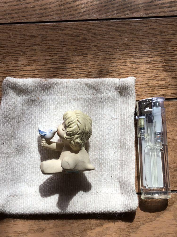 インテリア 小物 置物 雑貨 小鳥 キス お座り 子供 かわいい コレクション オブジェ レトロ アンティーク 焼物 玄関に 125_画像5