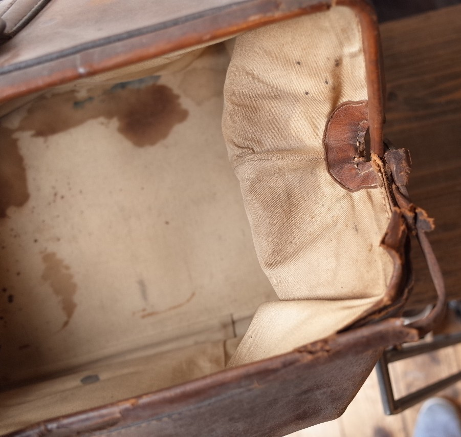 ○アンティークレザー 大型ドクターバッグ 大きめ 古道具のgplus広島 2004k_画像8