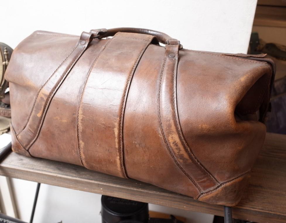 ○アンティークレザー 大型ドクターバッグ 大きめ 古道具のgplus広島 2004k_画像5