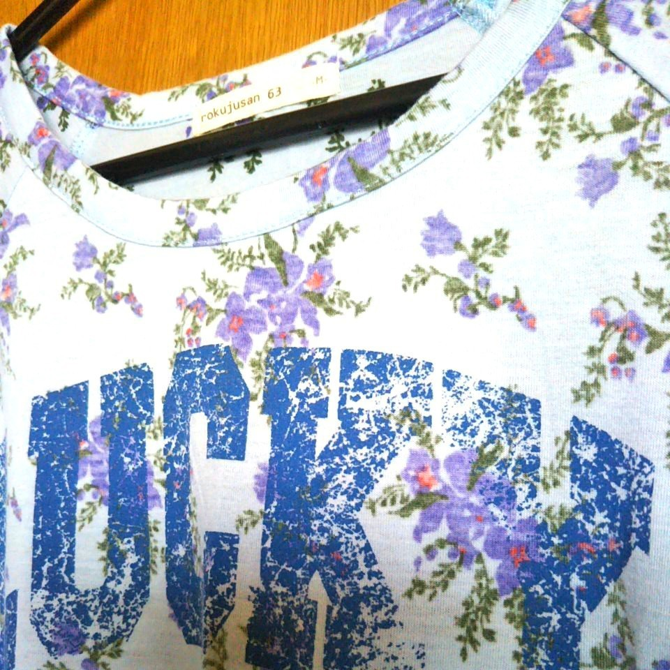 花柄 半袖カットソー