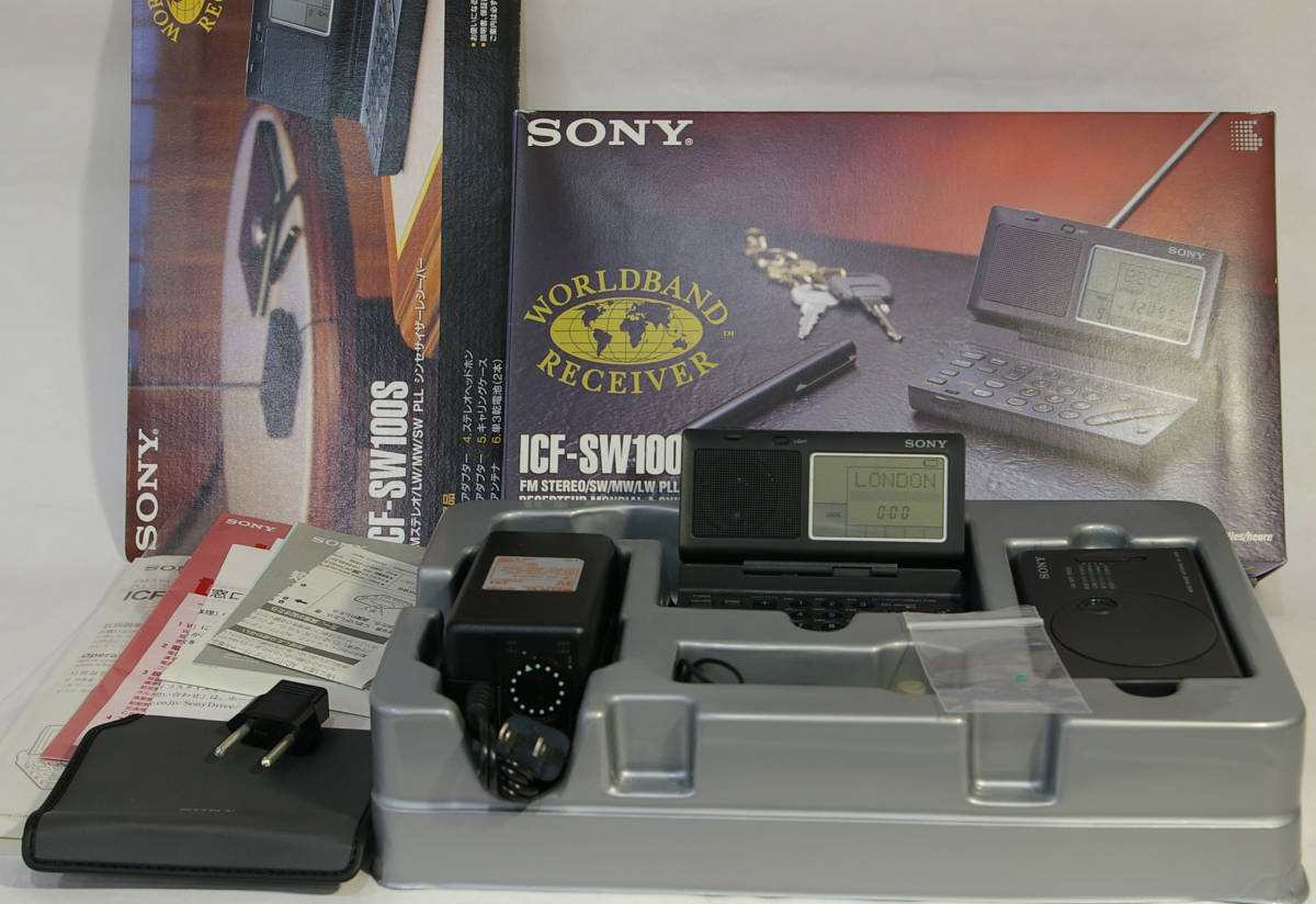SONY ソニー ICF-SW100S ラジオ 受信機 短波 長波 中波 BCL World Band Receiver ICF-SW7600GR に匹敵
