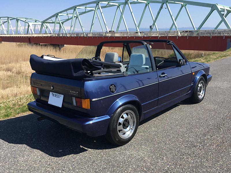 【大幅値下】VW ゴルフIカブリオレ 1992年式 低走行4万km台 電動オープン 2灯グリル 幌張替え済み GOLF ワーゲン 状態良好_即決未満は純正13インチに戻します。