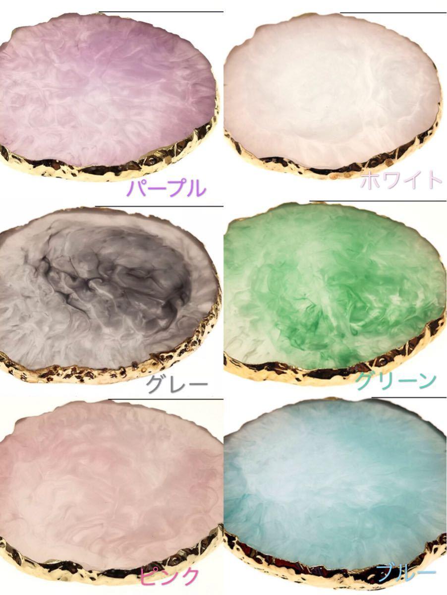 大理石風ネイルアートパレット 選べる5色