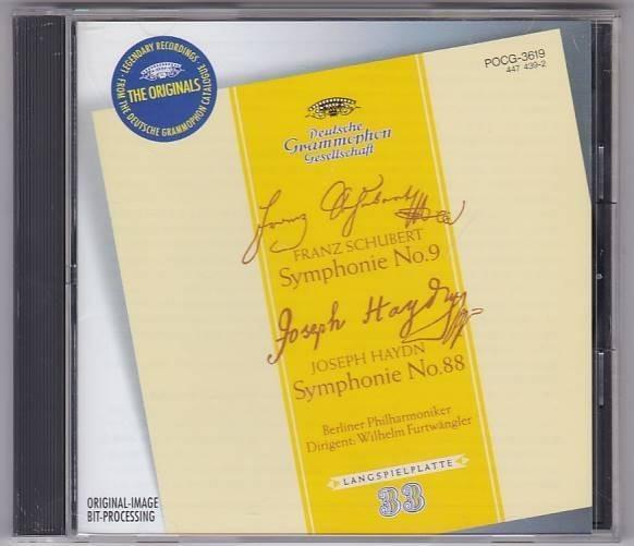 ■CD シューベルト:交響曲第9番「ザ・グレート」ハイドン:交響曲第88番「V字*フルトヴェングラー.ベルリン・フィルハーモニー管弦楽団■_画像1