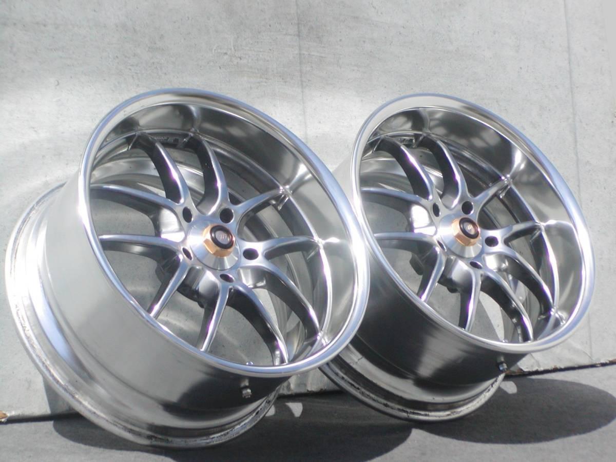 超希少!極上 GT-R サイズ WORK マイスターS2R 9J +18 鍛造 GTR R32 R33 R34 S13 S14 S15 RX-7 検 S1 エクイップ TE37 CE28 BBS RG-R LM_スポーティーで最高に良いデザインです!