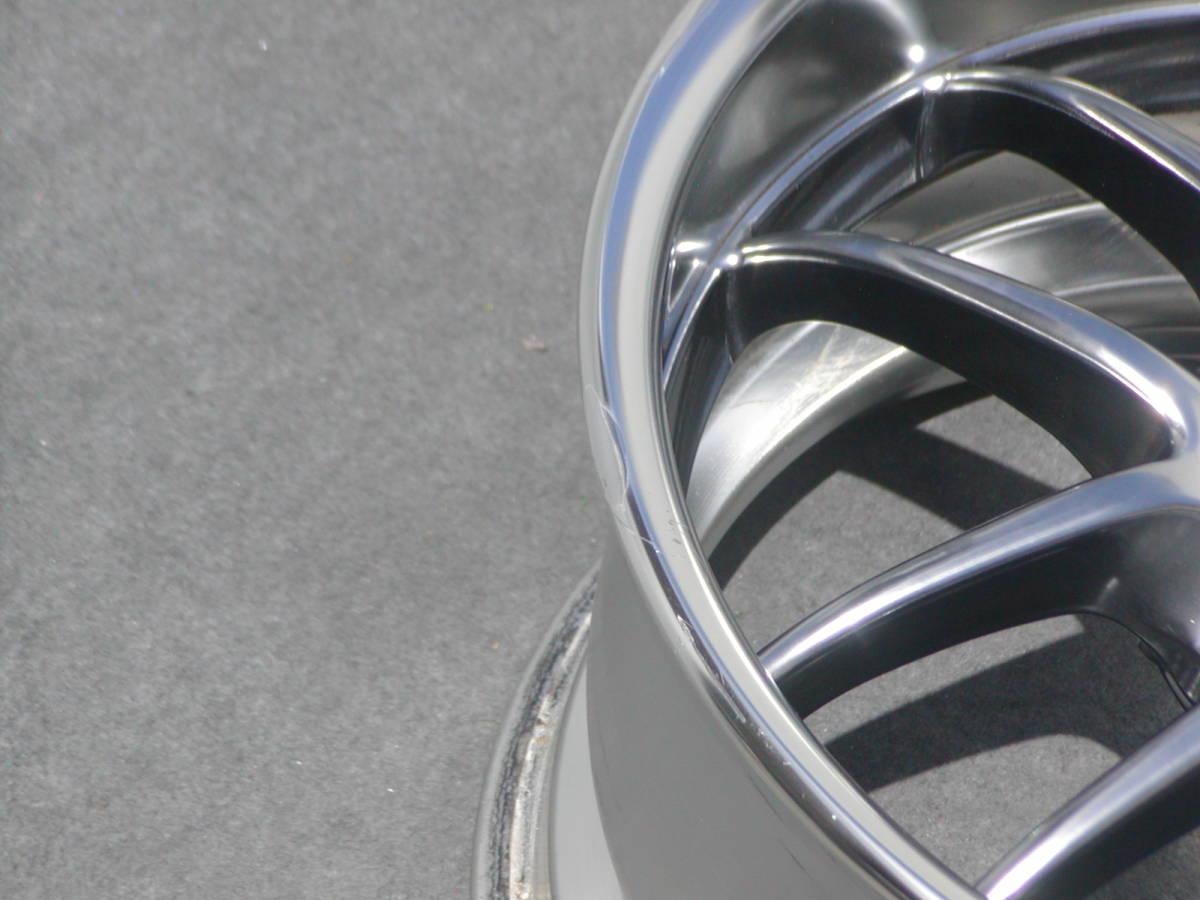 超希少!極上 GT-R サイズ WORK マイスターS2R 9J +18 鍛造 GTR R32 R33 R34 S13 S14 S15 RX-7 検 S1 エクイップ TE37 CE28 BBS RG-R LM_リムキズ手直しヶ所+薄い線キズ