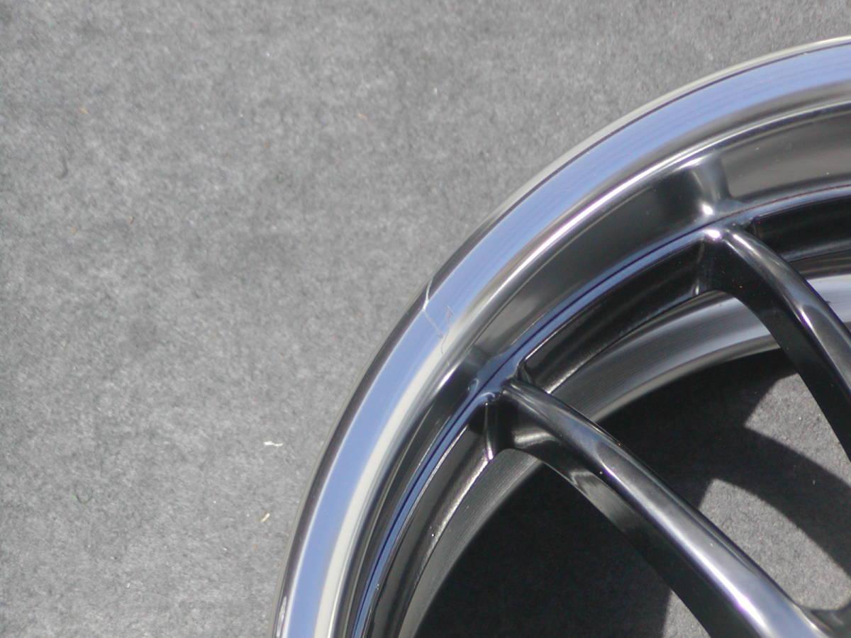超希少!極上 GT-R サイズ WORK マイスターS2R 9J +18 鍛造 GTR R32 R33 R34 S13 S14 S15 RX-7 検 S1 エクイップ TE37 CE28 BBS RG-R LM_薄い線キズ