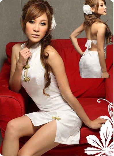 送料無料bb6ミニチャイナドレスコスチューム 背中はパックリ開き 体のラインを綺麗かつセクシーに魅せて着痩効果抜群チャイナ コスプレ衣装_画像7
