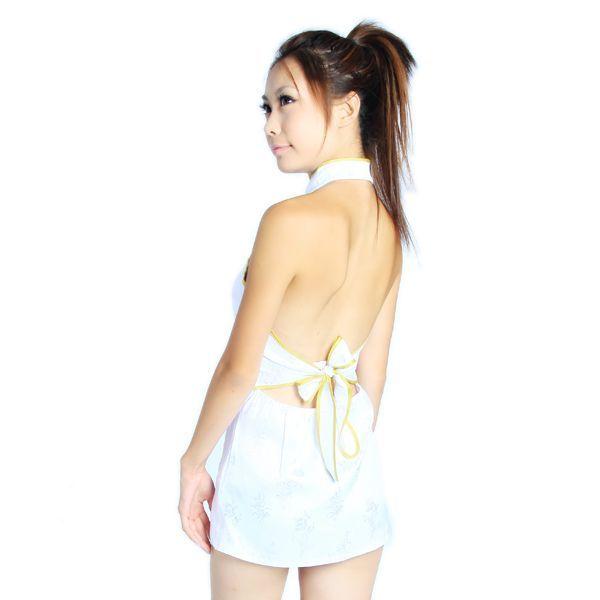 送料無料bb6ミニチャイナドレスコスチューム 背中はパックリ開き 体のラインを綺麗かつセクシーに魅せて着痩効果抜群チャイナ コスプレ衣装_画像4