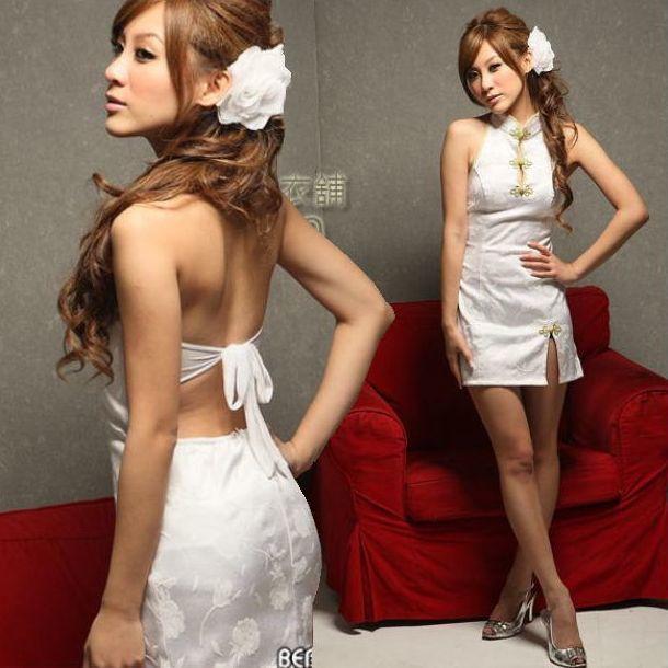 送料無料bb6ミニチャイナドレスコスチューム 背中はパックリ開き 体のラインを綺麗かつセクシーに魅せて着痩効果抜群チャイナ コスプレ衣装_画像5