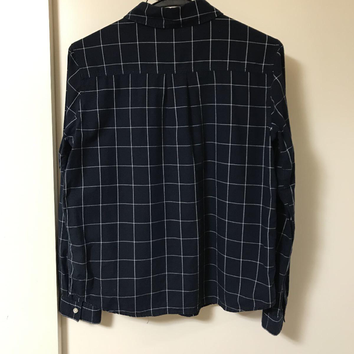 chocol raffine robe シャツ チェック ネイビー  M