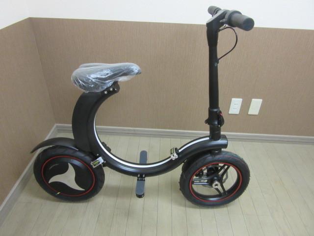 札幌市~新品 超人気!!電動バイク 折り畳み式 お洒落な円形デザイン_画像2
